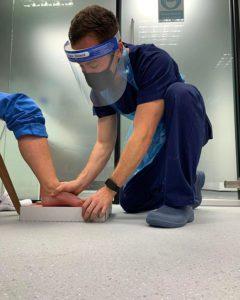 Staff wearing PPE